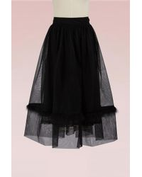 Simone Rocha - Tulle Skirt With Marabou Trimmed - Lyst