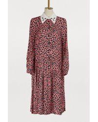 Vivetta - Leopard Print Cat Collar Dress - Lyst