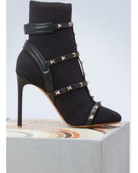 Valentino - Bodytech Rockstud Boots - Lyst
