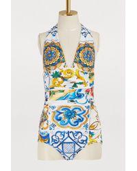 Dolce & Gabbana - Maiolica Swimsuit - Lyst