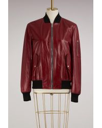 Proenza Schouler - Shiny Leather Bomber Jacket - Lyst