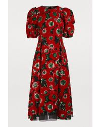 Dolce & Gabbana - Silk-blend Midi Dress - Lyst