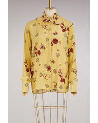 Valentino - Floral-print Silk Crepe De Chine Shirt - Lyst