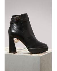Nicholas Kirkwood - Annabel Pearl Ankle Boots - Lyst