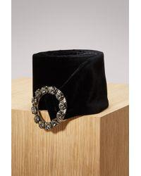 Miu Miu - Jewels Embellished Leather Thin Belt - Lyst