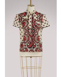 RED Valentino - Bandana Print Silk Shirt - Lyst