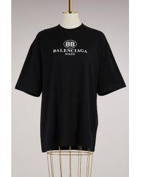 Balenciaga - Bb Oversize T-shirt - Lyst