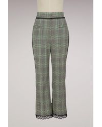 MSGM - Check Trousers - Lyst