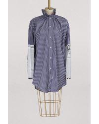 Balenciaga - Long Sleeved Striped Shirt - Lyst