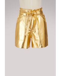 Vanessa Seward - Frida Leather Shorts - Lyst