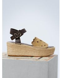 Loewe - Plateform Espadrilles With Embroideries - Lyst
