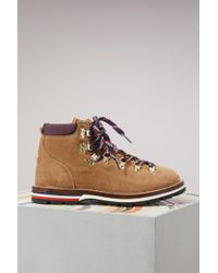 Moncler - Blanche Leather Boots - Lyst