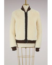 Chloé - Shearling Bomber Jacket - Lyst