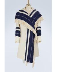 Chloé | Striped Knit Coat | Lyst