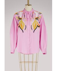 Emilio Pucci - Popeline Embroidered Shirt - Lyst