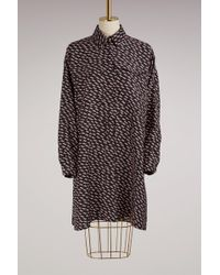 KENZO - Silk Dress With Pockets - Lyst