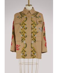RED Valentino - Embroidered Parka - Lyst