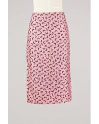 Marni | Printed Satin Skirt | Lyst