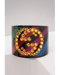 Gucci - Crystal Gg Cuff Bracelet - Lyst