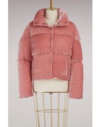 moncler cercis quilted velvet down jacket