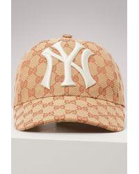 Gucci - Ny Yankees Gg Supreme Baseball Hat - Lyst