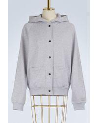 KENZO - Cotton Logo Hoodie Bomber Jacket - Lyst