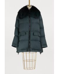 Army by Yves Salomon - Fur-lined Cropped Puffer Jacket - Lyst