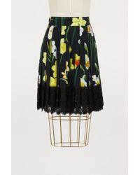 Dolce & Gabbana - Iris Print Miniskirt - Lyst