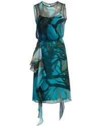 Max Mara Zolfo Silk Dress - Blue
