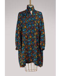 Balenciaga - Flower Long-sleeved Dress - Lyst