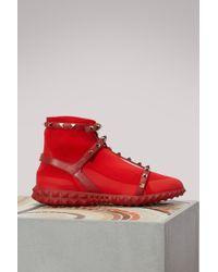 Valentino - Garavani Free Rockstud Bodytech Sneakers - Lyst