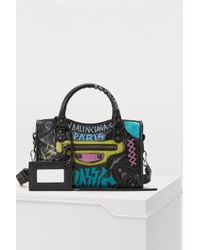 ae0450847a Lyst - Balenciaga Classic Suede City Bag in Blue