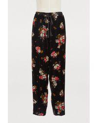 Forte Forte - Floral Print Velvet Pants - Lyst