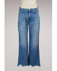 3x1 | Shelter Pleated Crop Jean | Lyst