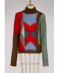 Chloé - Multicolor Mohair Sweater - Lyst