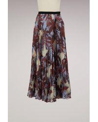 Erdem - Nesrine Pleated Long Skirt - Lyst