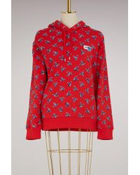 KENZO - Cotton Hoodie Sweat With Flowers - Lyst