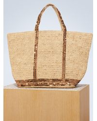 Vanessa Bruno - Sequins And Raffia Large Tote - Lyst