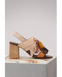 See By Chloé - Tania Heeled Sandals - Lyst