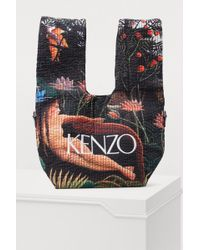 KENZO - Printed Flowers Shopping Bag - Lyst