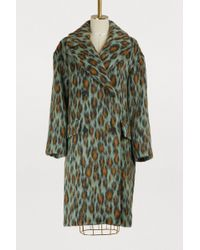 KENZO - Mohair Leopard Coat - Lyst