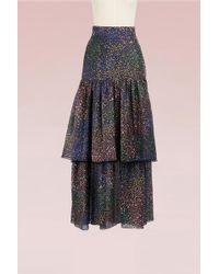 Chloé | Fireworks Printed Cotton Long Skirt | Lyst