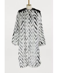 Givenchy - Faux-fur Long Coat - Lyst