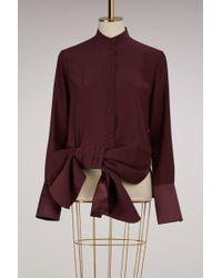 Victoria, Victoria Beckham - Cotton Asymmetric Shirt - Lyst