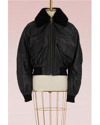 Haider Ackermann - Leather Bomber Jacket - Lyst