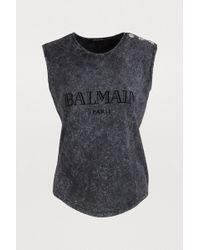 Balmain - Logo Tie-dye T-shirt - Lyst