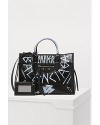 Balenciaga - Paper Graffiti Handbag - Lyst