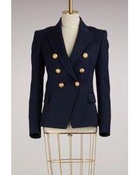Balmain - Wool Blazer Jacket With 1 Button - Lyst