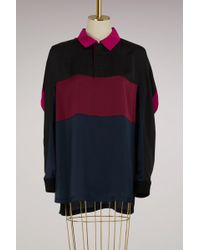 Koche - Oversize Polo Shirt With Long Sleeves - Lyst