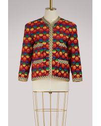 Gucci - Gg Rainbow Velvet Jacket - Lyst